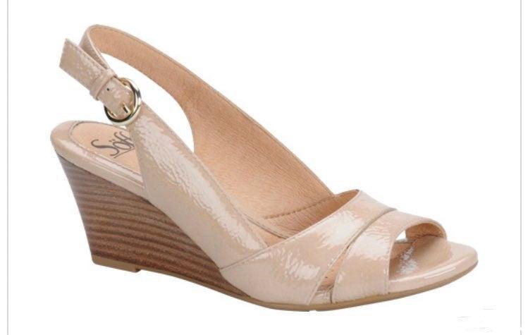 Sofft Prischa Nude Slingback Sandals 6.5