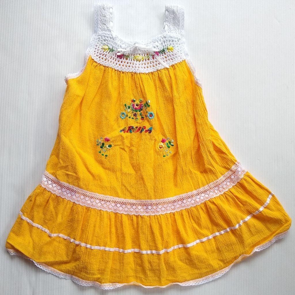 Aruba crochet Embroidered yellow Dress