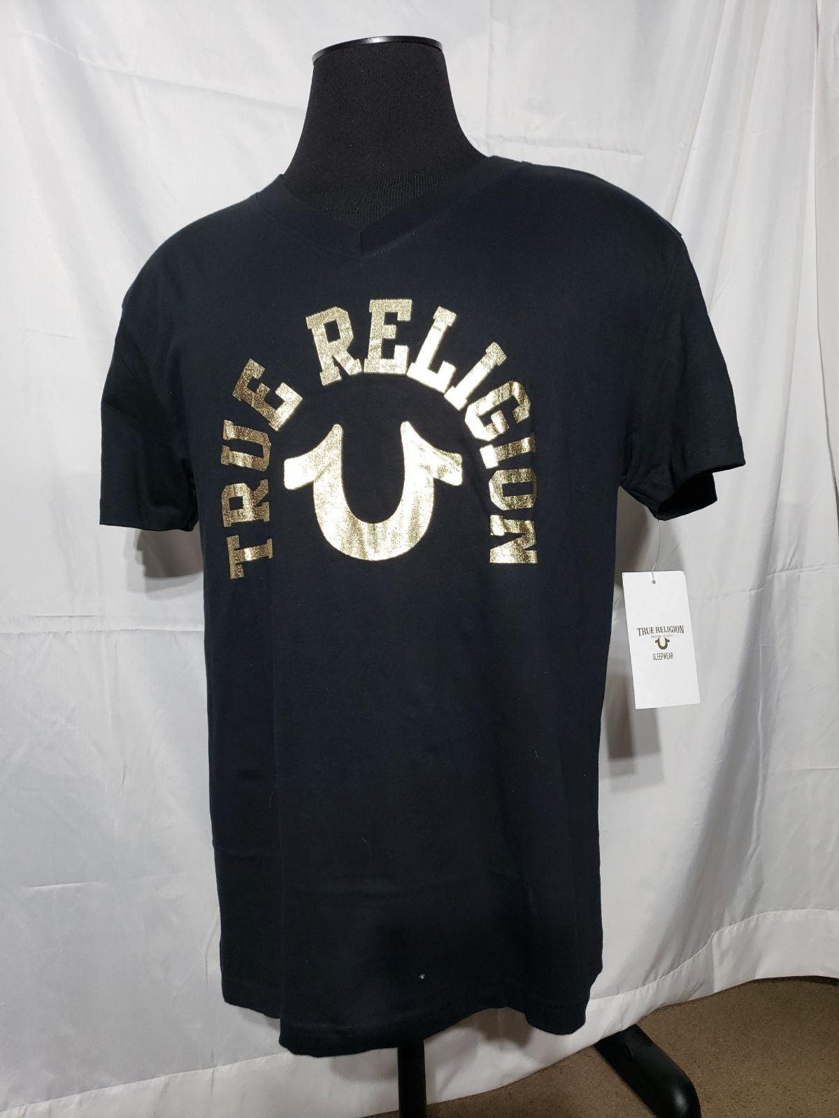 True Religión T shirts mens   gold size