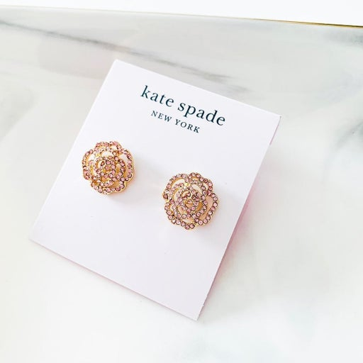 Kate Spade Rose Stud Earrings Pink