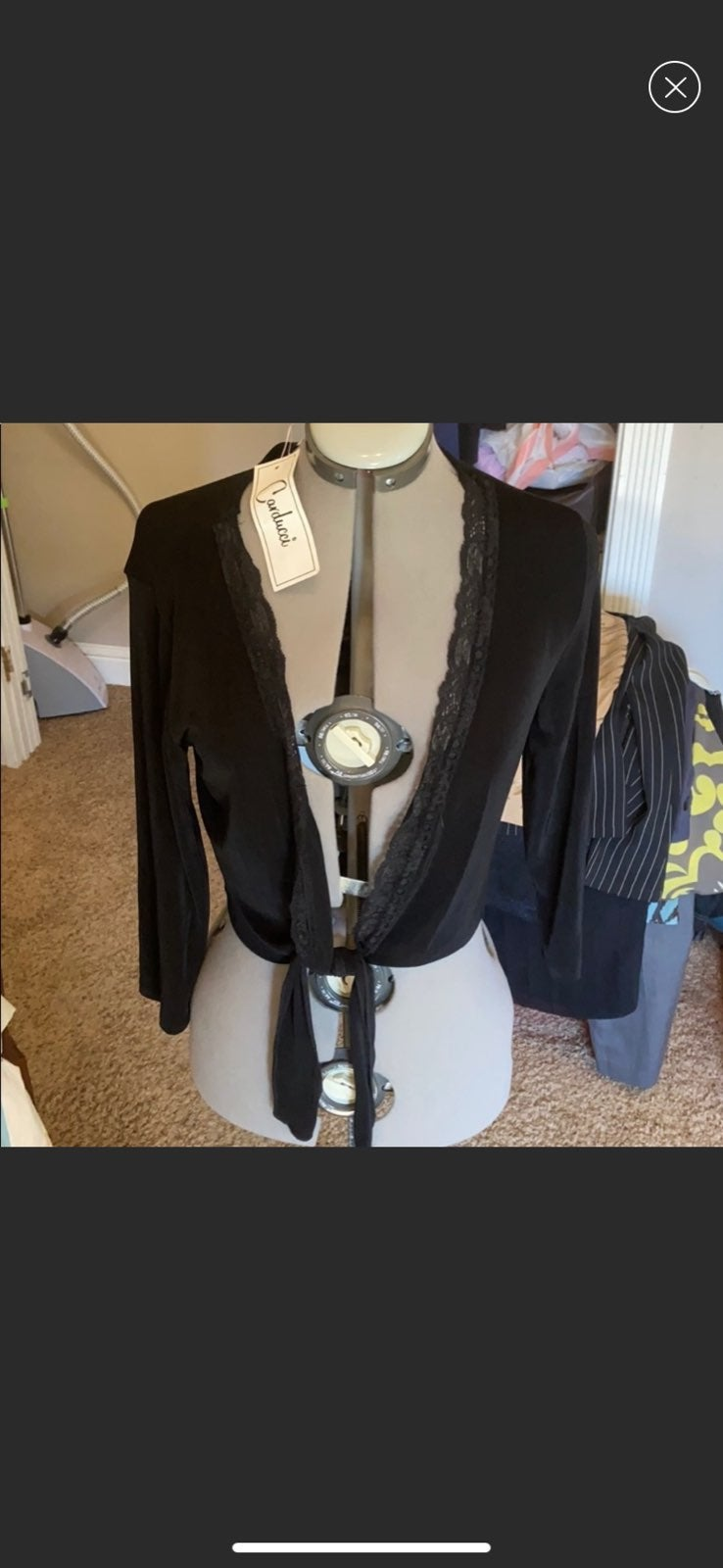 Womens Carducci cover up jacket NWT Med