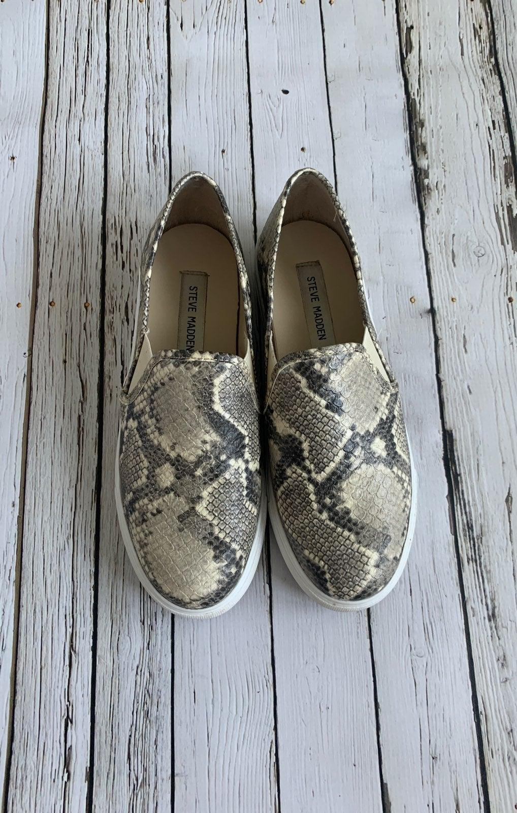 Steve Madden Snakeskin Tennis Shoes
