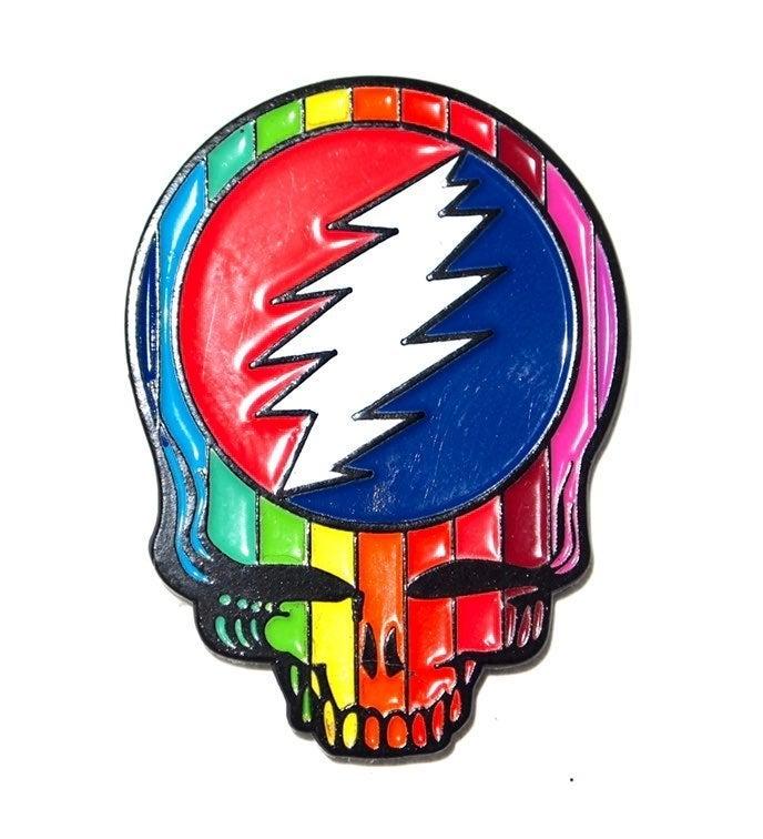 Grateful Dead Rainbow Skull Pin 420 Dab