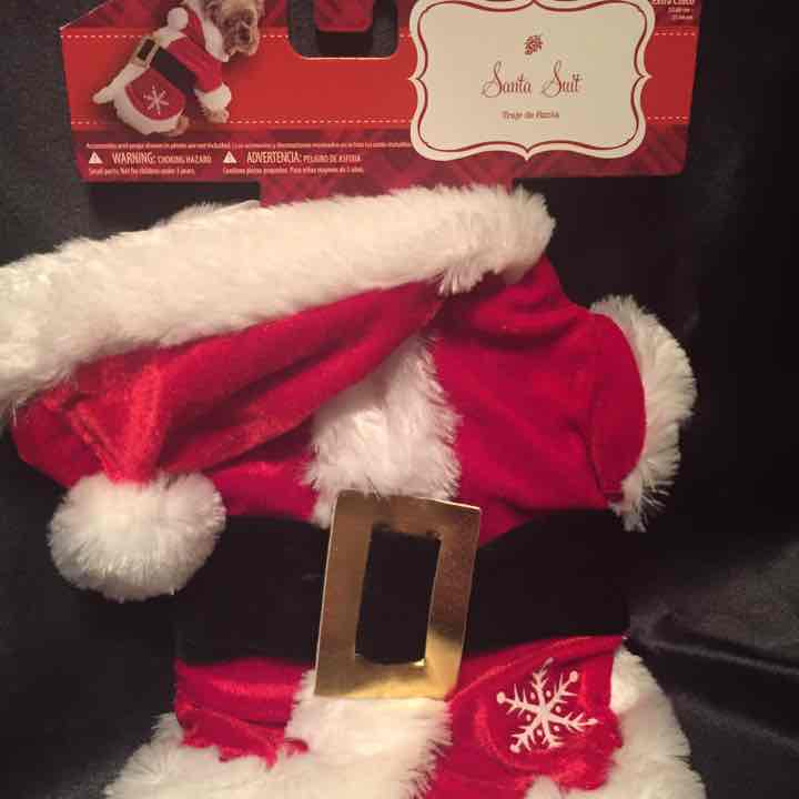 Doggie Santa suit XS 9-11 inches
