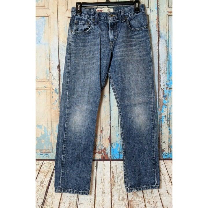 Levis 513 Slim Fit Boys Size 14 Regular Straight Jeans Pants 5 Pocket