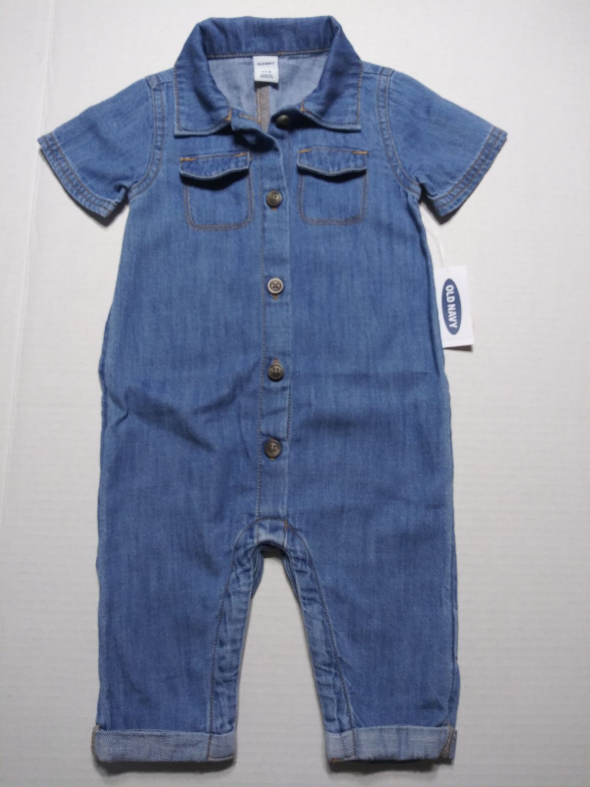Old Navy Jean Romper size 12-18 month