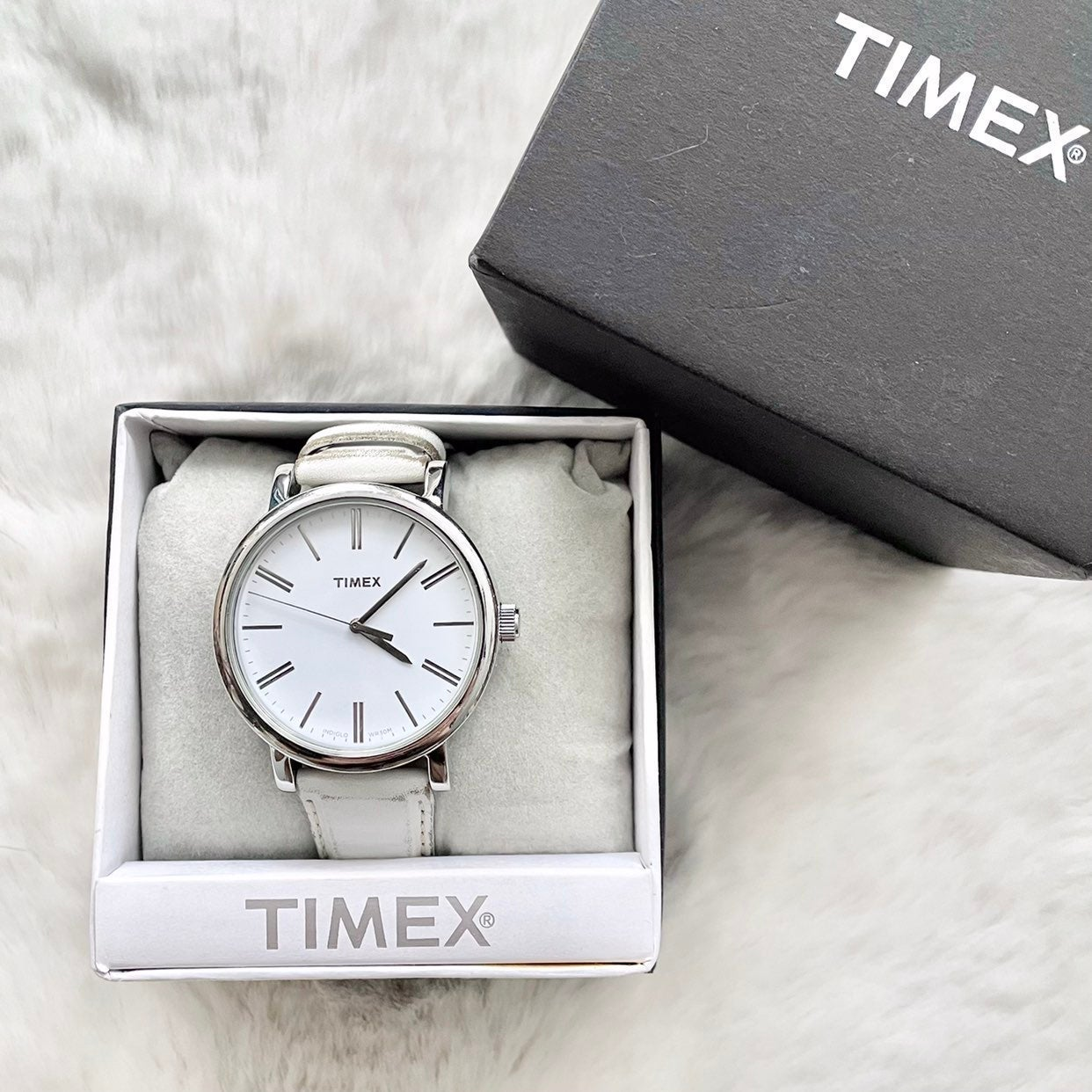 Timex Originals Silver Watch Leather