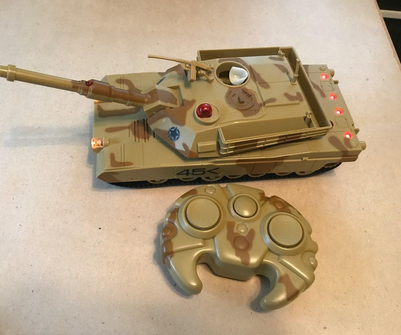 Romote control army tank
