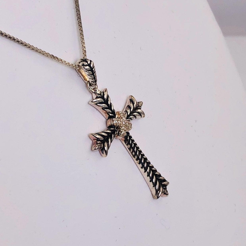 Diamond Sterling Cross