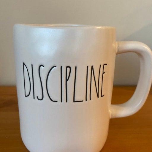 Rae Dunn DISCIPLINE mug