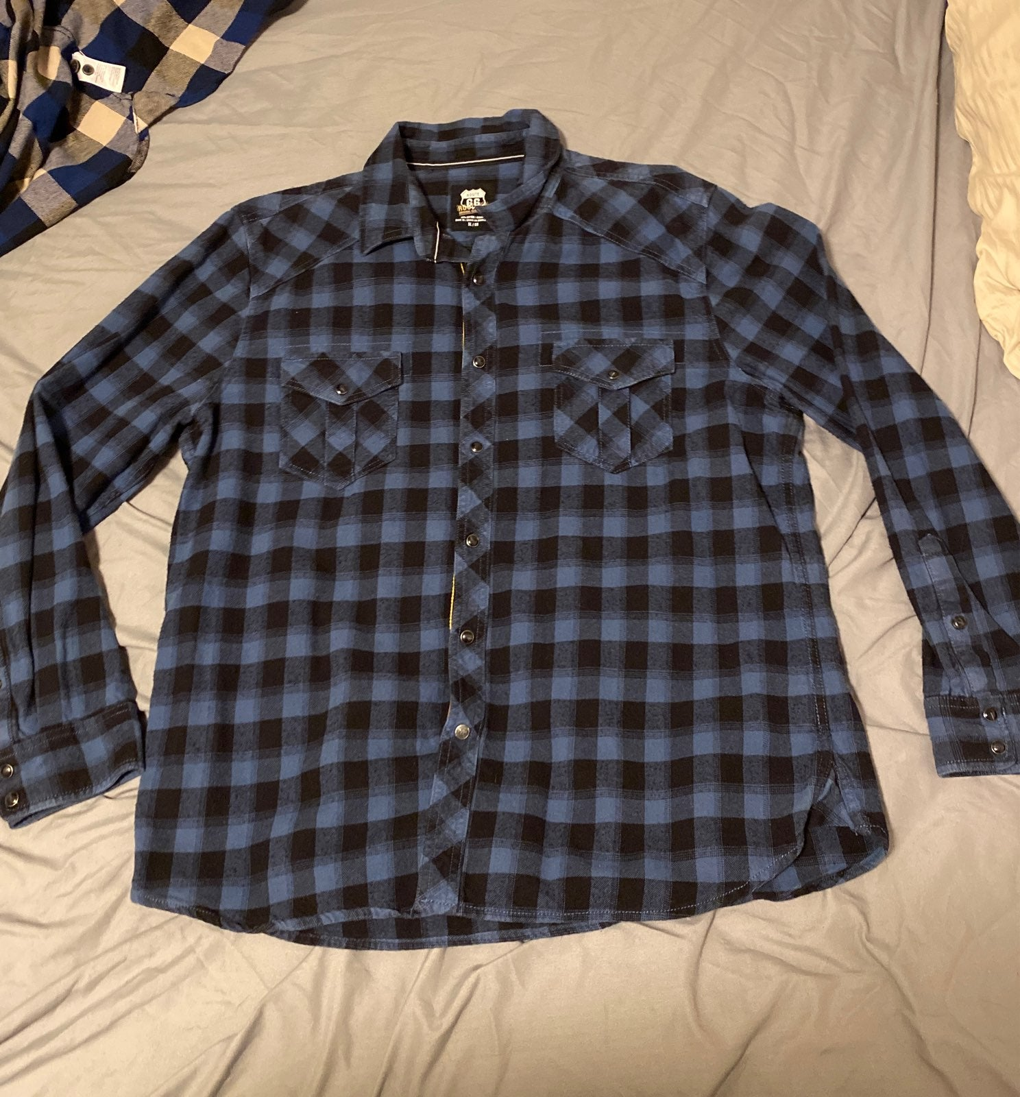 Mens route 66 flannel/ button up