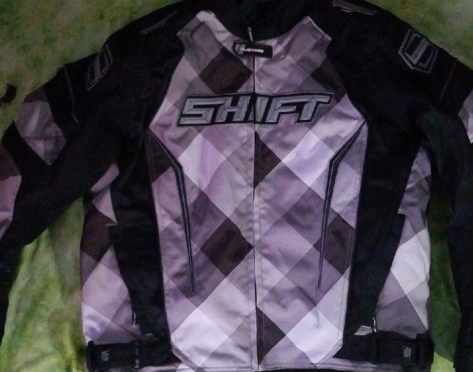 Mens xl shift motorcycle jacket back elb