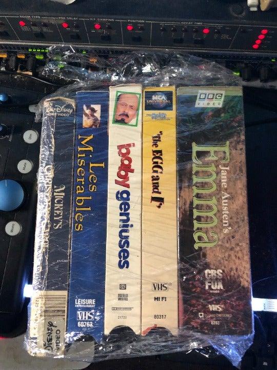 VHS Tape 5 movie bundle classic