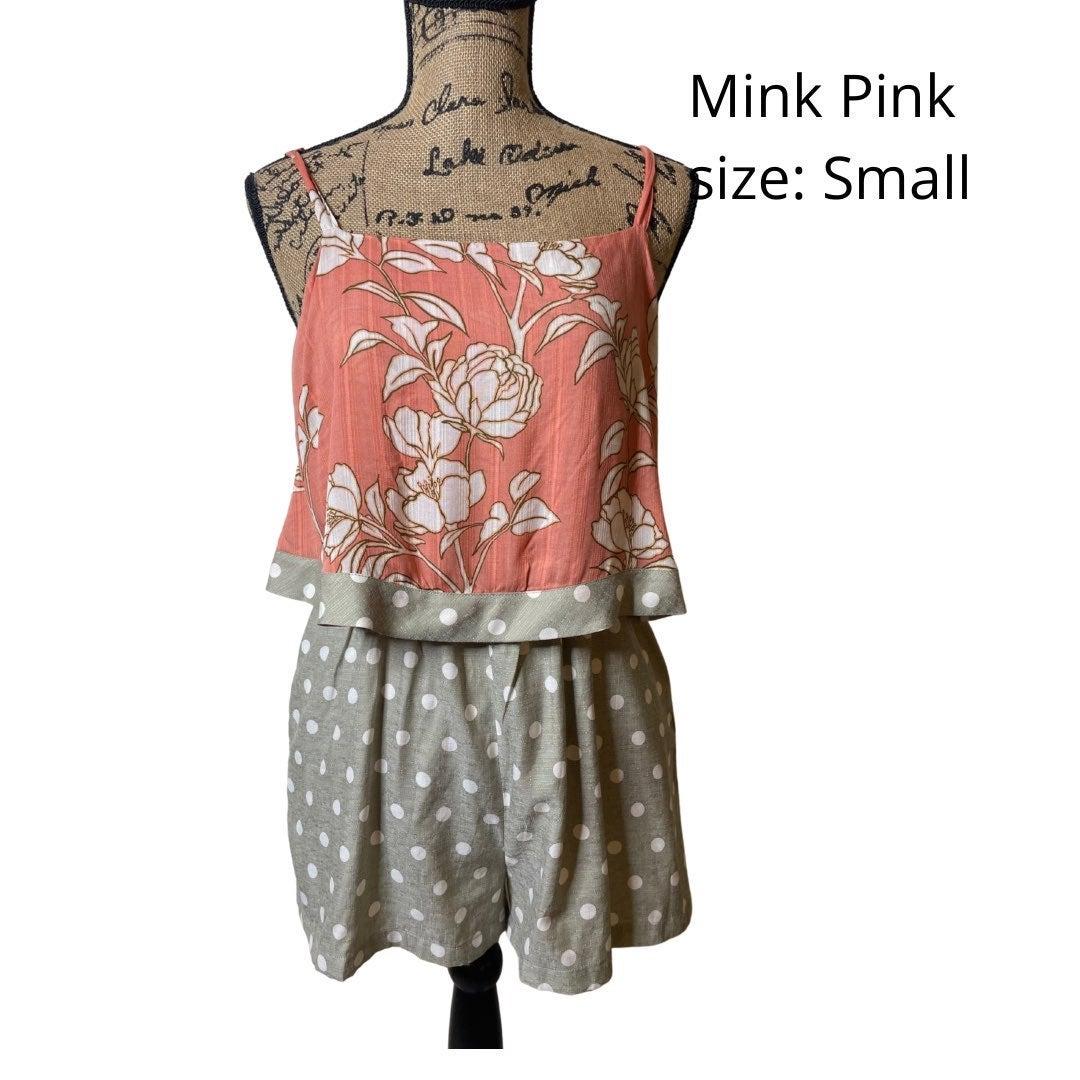 Mink Pink floral and dots romper