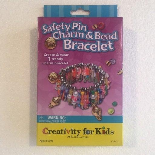 Safety Pin Charm & Bead Bracelet Craft