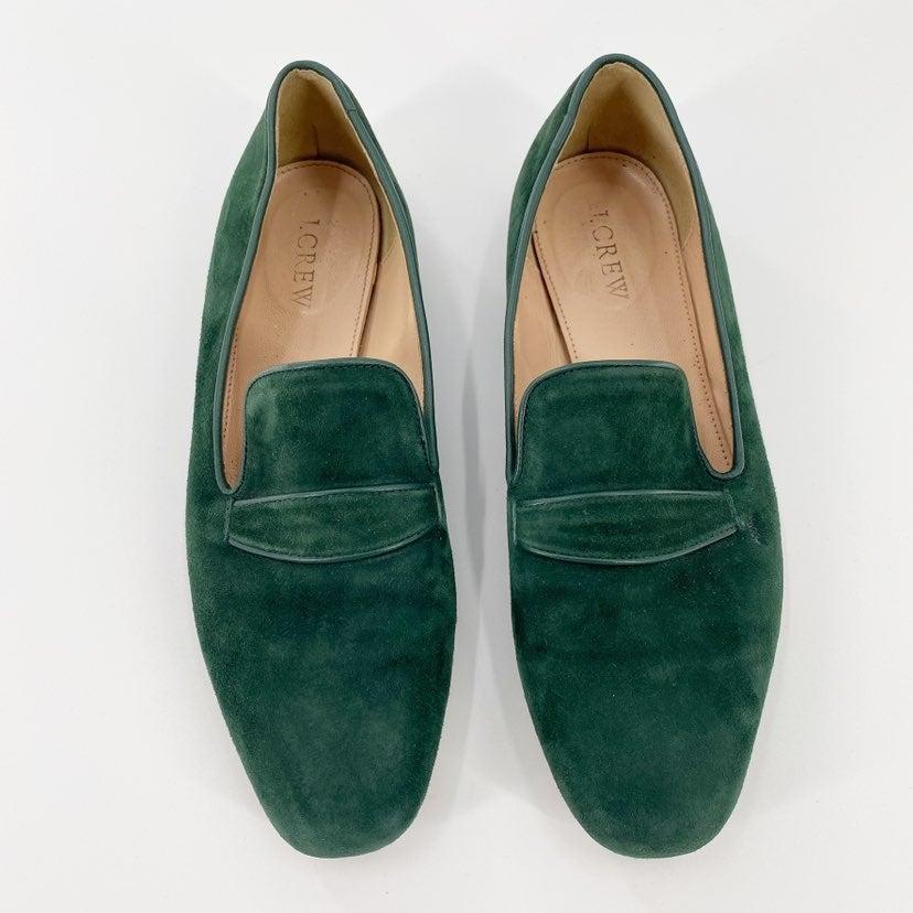 J Crew Vintage Green Suede Slipper