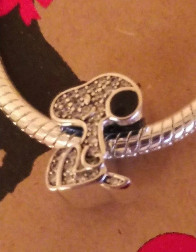 NWT Silver (925) Snoopy Charm & Bracelet