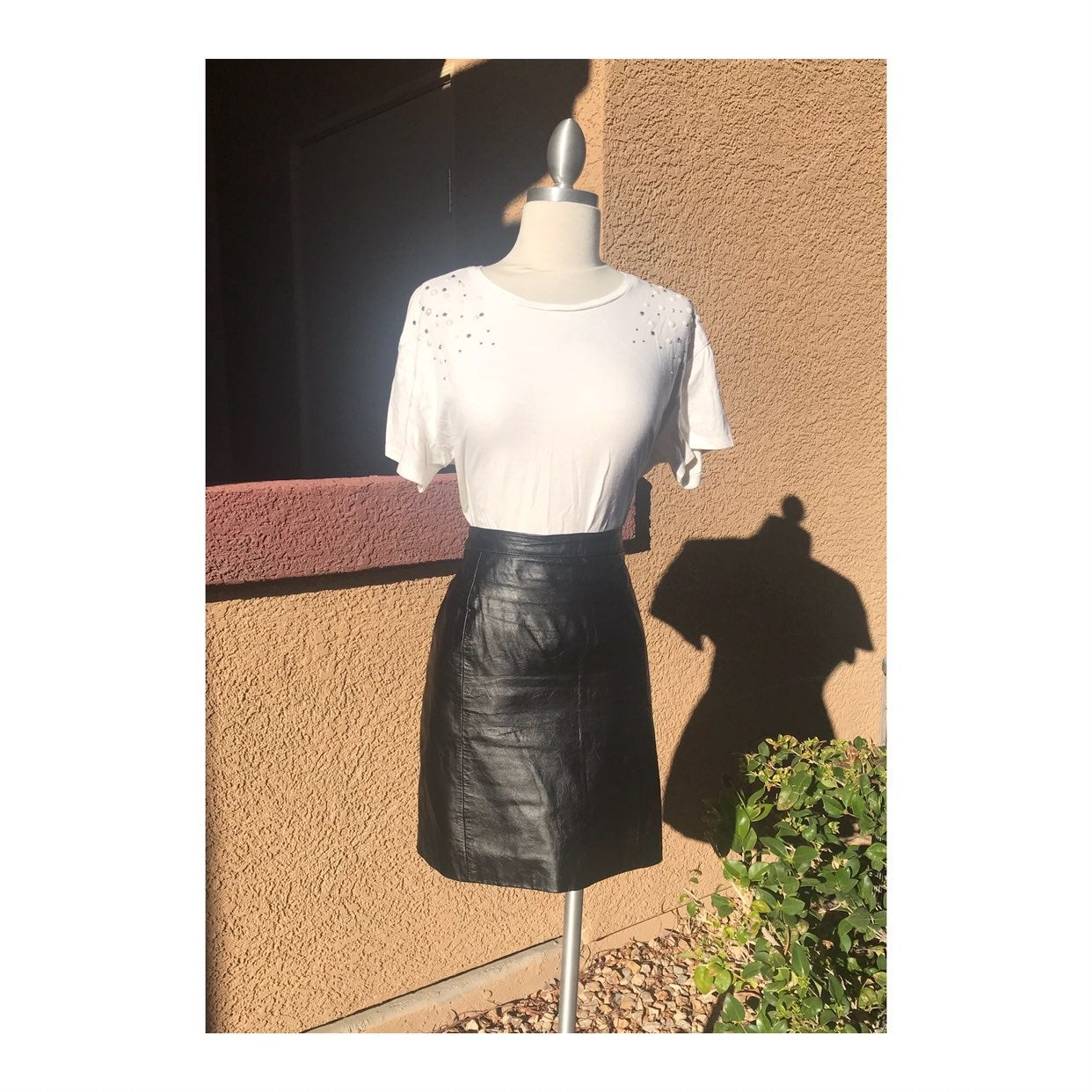 True Vintage Leather Skirt