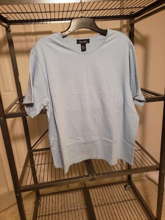 Denim & Co light blue top NEW