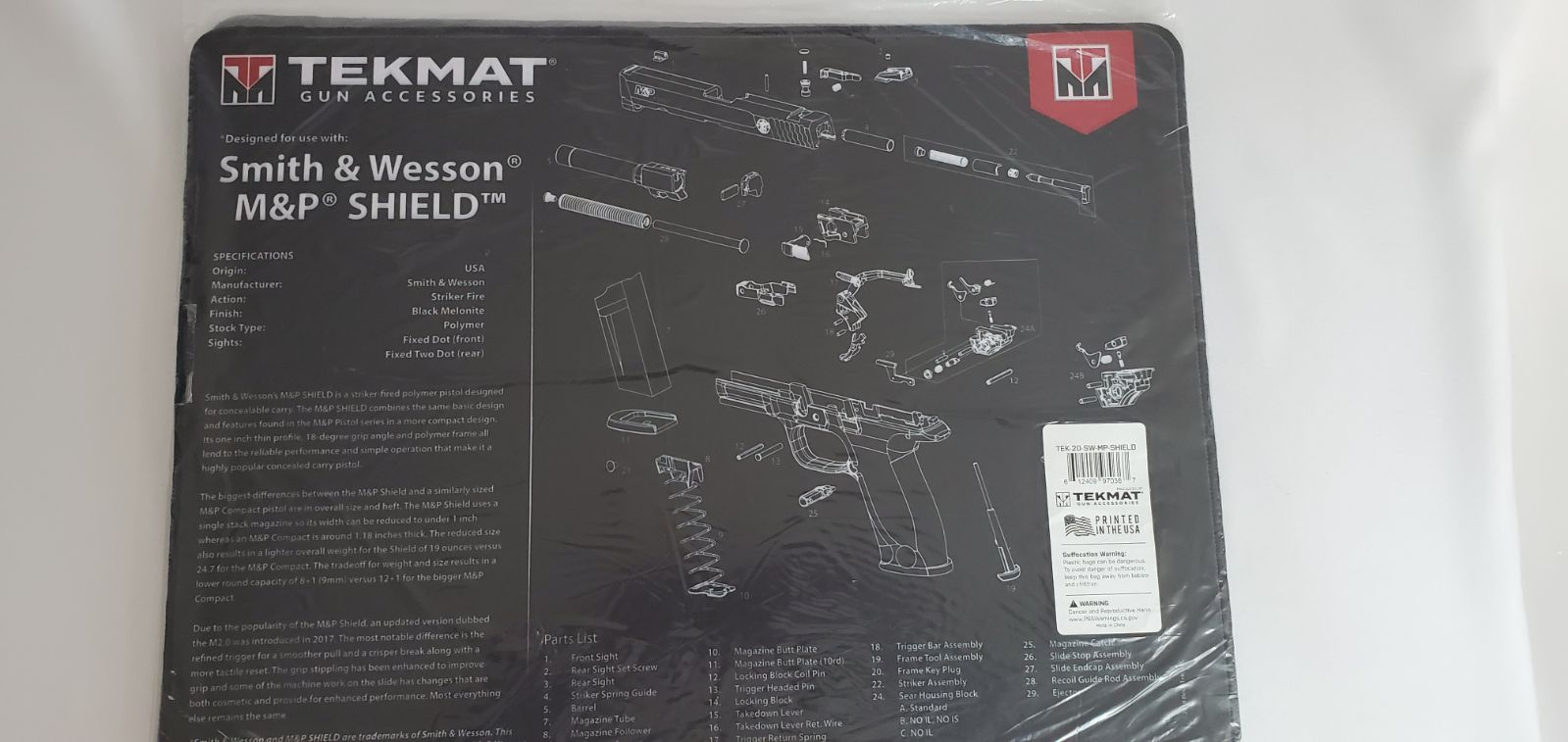 Smith & Wesson M&P Shield Mat