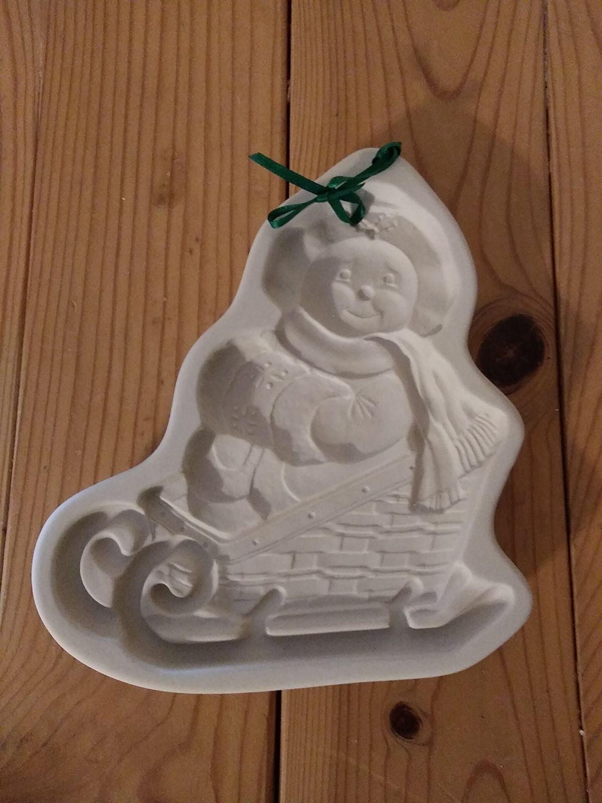"1998 Longaberger Pottery 6"" Snowman mold"