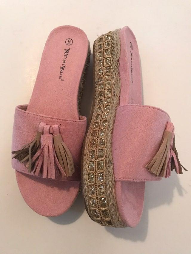 Nature Breeze Caprice Platform Sandals