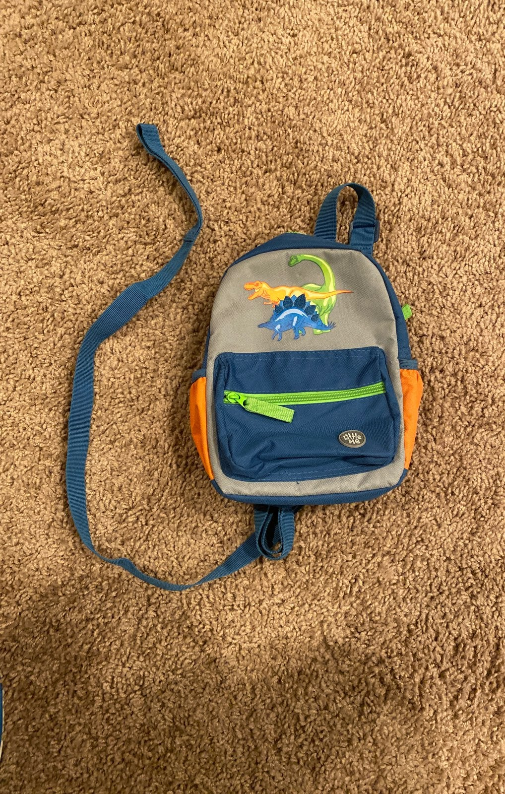 Backpack toddler with harness leash dino