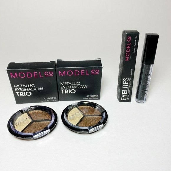LOT 3 Model Co Metallic Eyeshadows