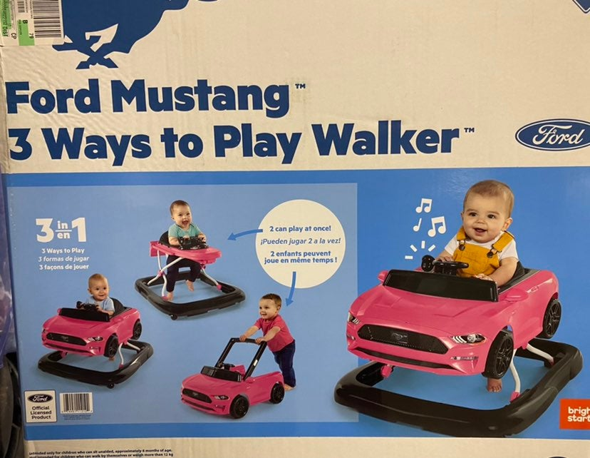 Ford Mustang 3 Ways to Play Baby Walker