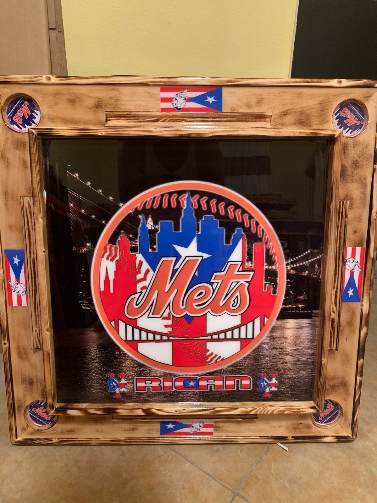 New York Mets Domino Table