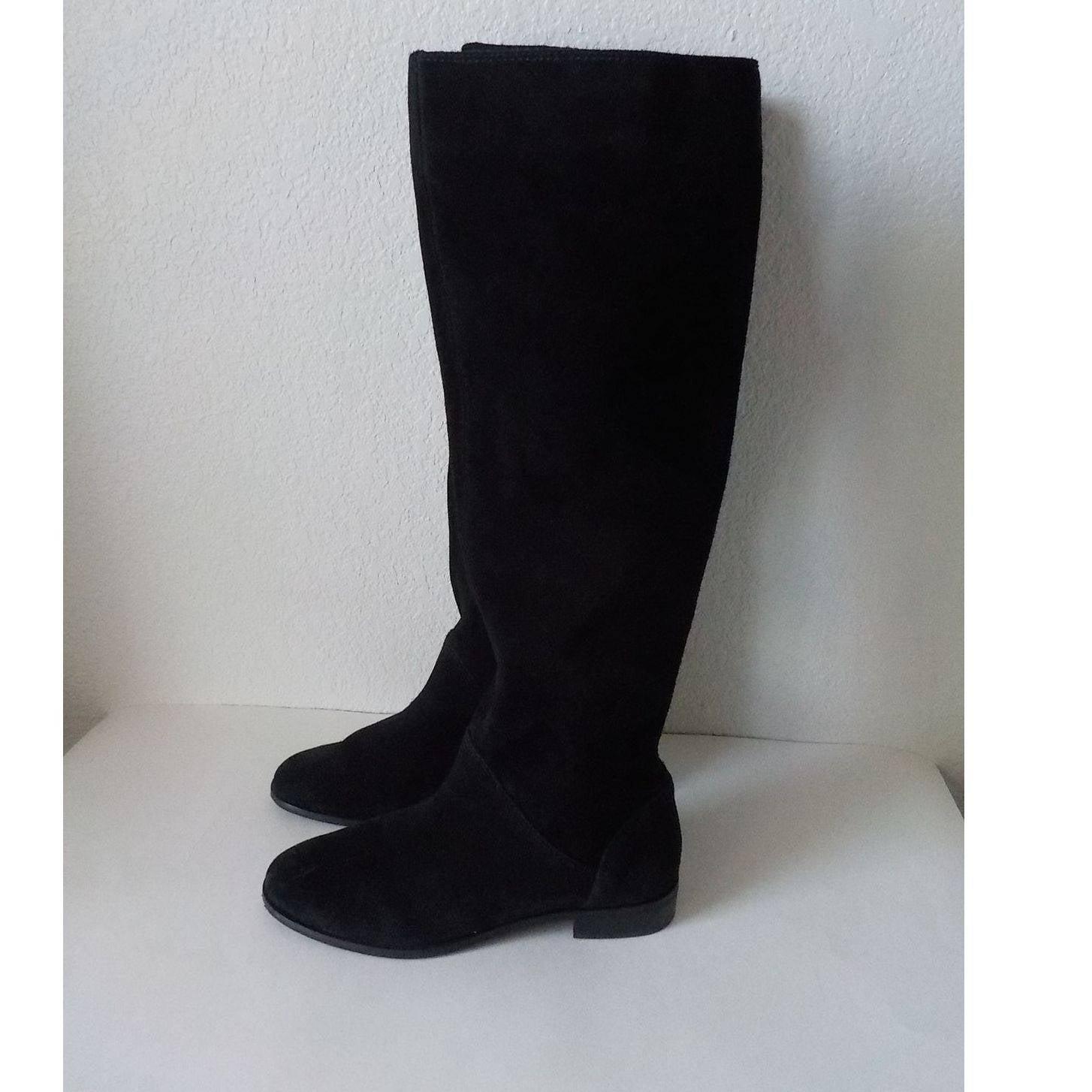 Gianni Bini Knee Boots 9M Suede Black