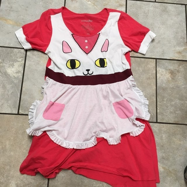 bee and puppy cat dress