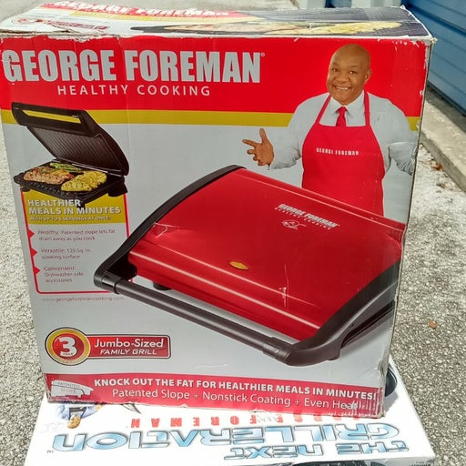 George Foreman jumbo size family grill