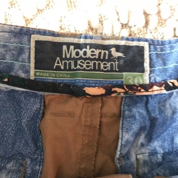 modern amusement cargo shorts men's 30