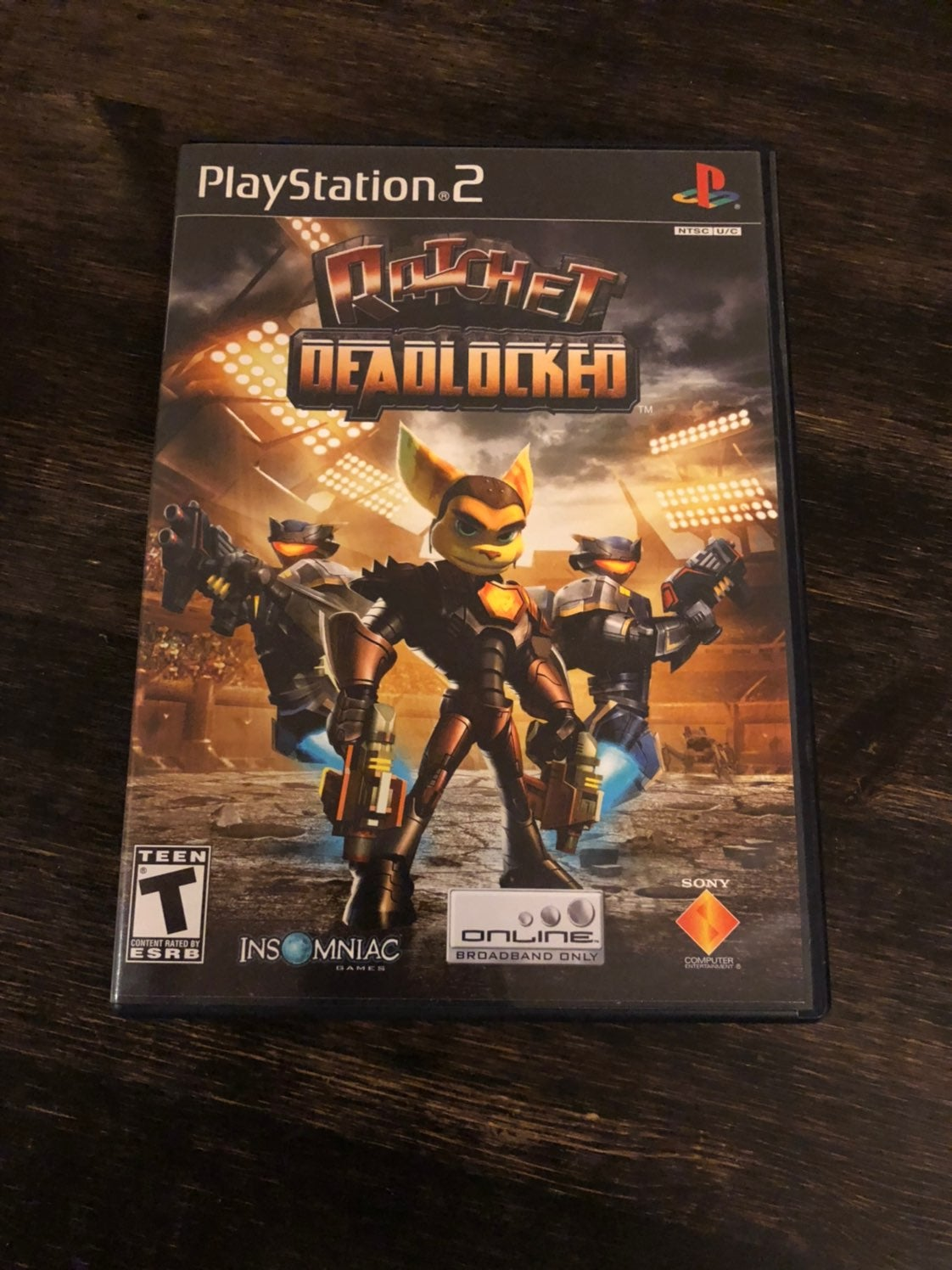 PS2 Ratchet Deadlocked game