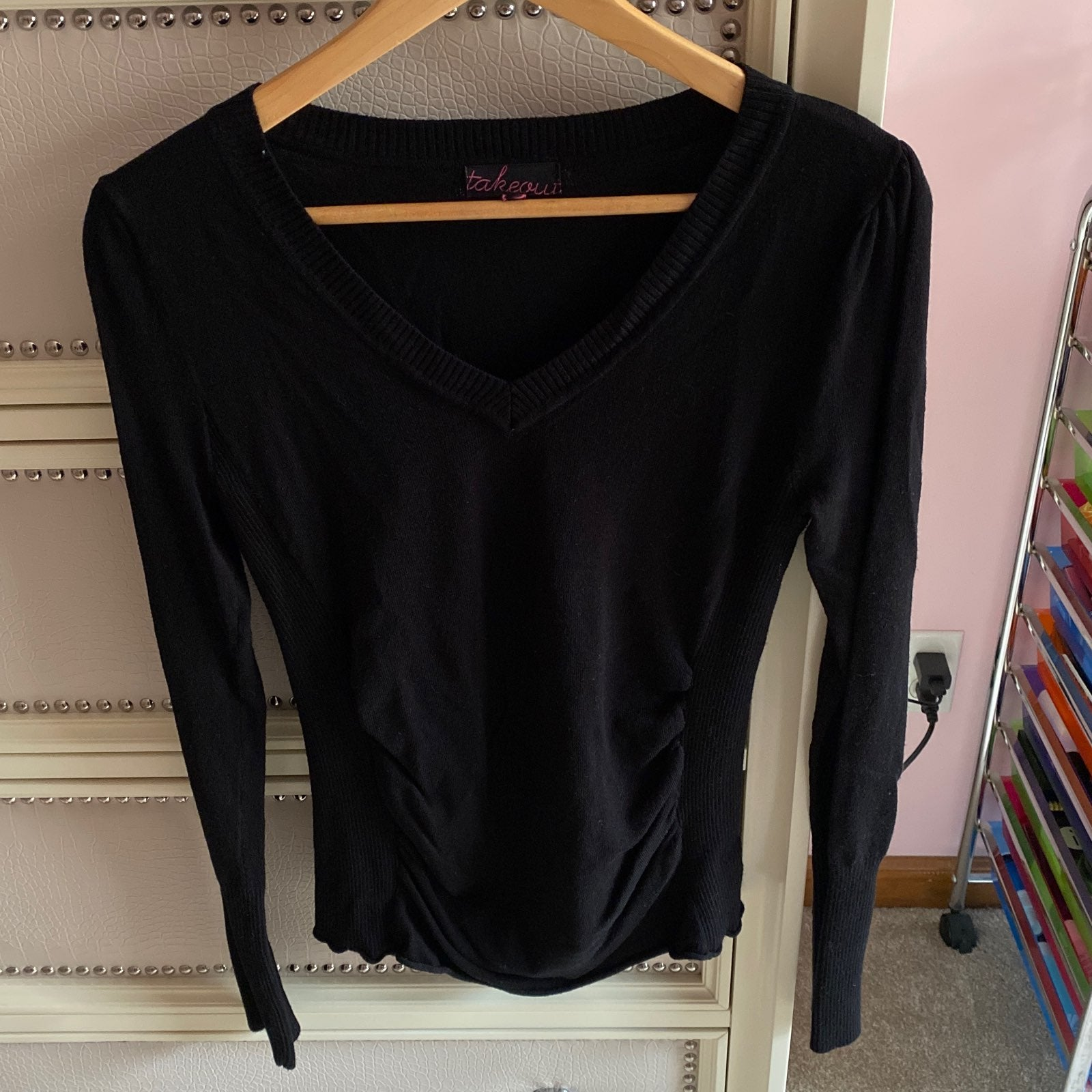 Long Sleeve rouched sweater