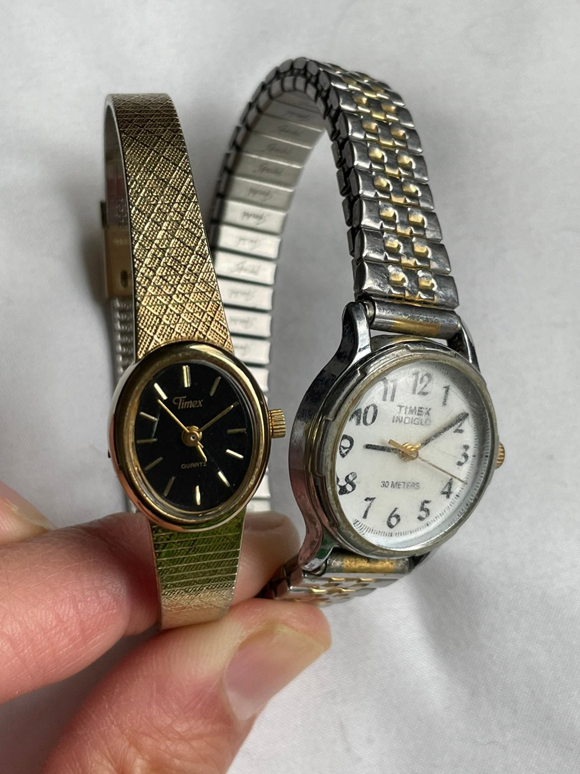 Two vintage Timex watches