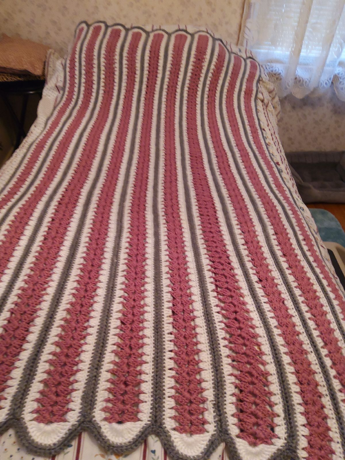 Knitted  Afghan.