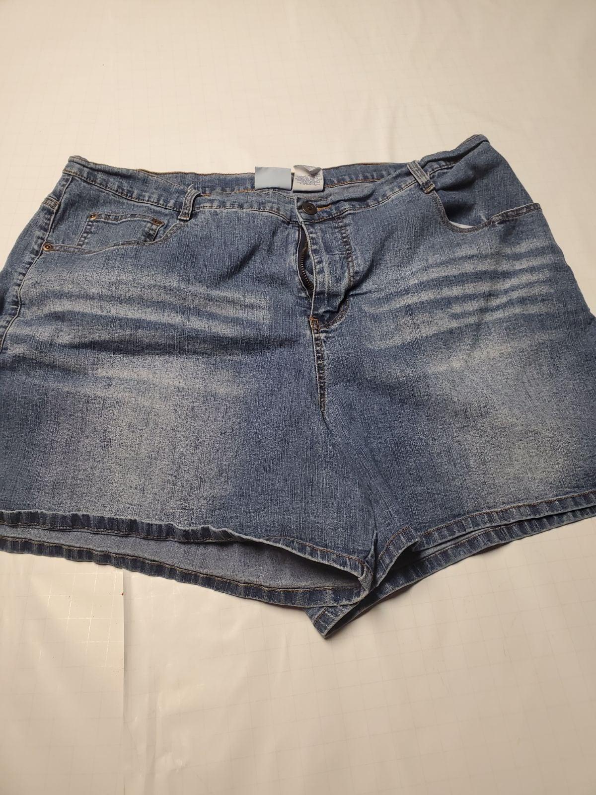 Plus size denim shorts