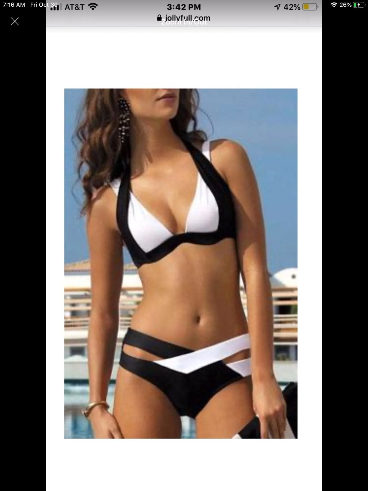 Black and White Bikini