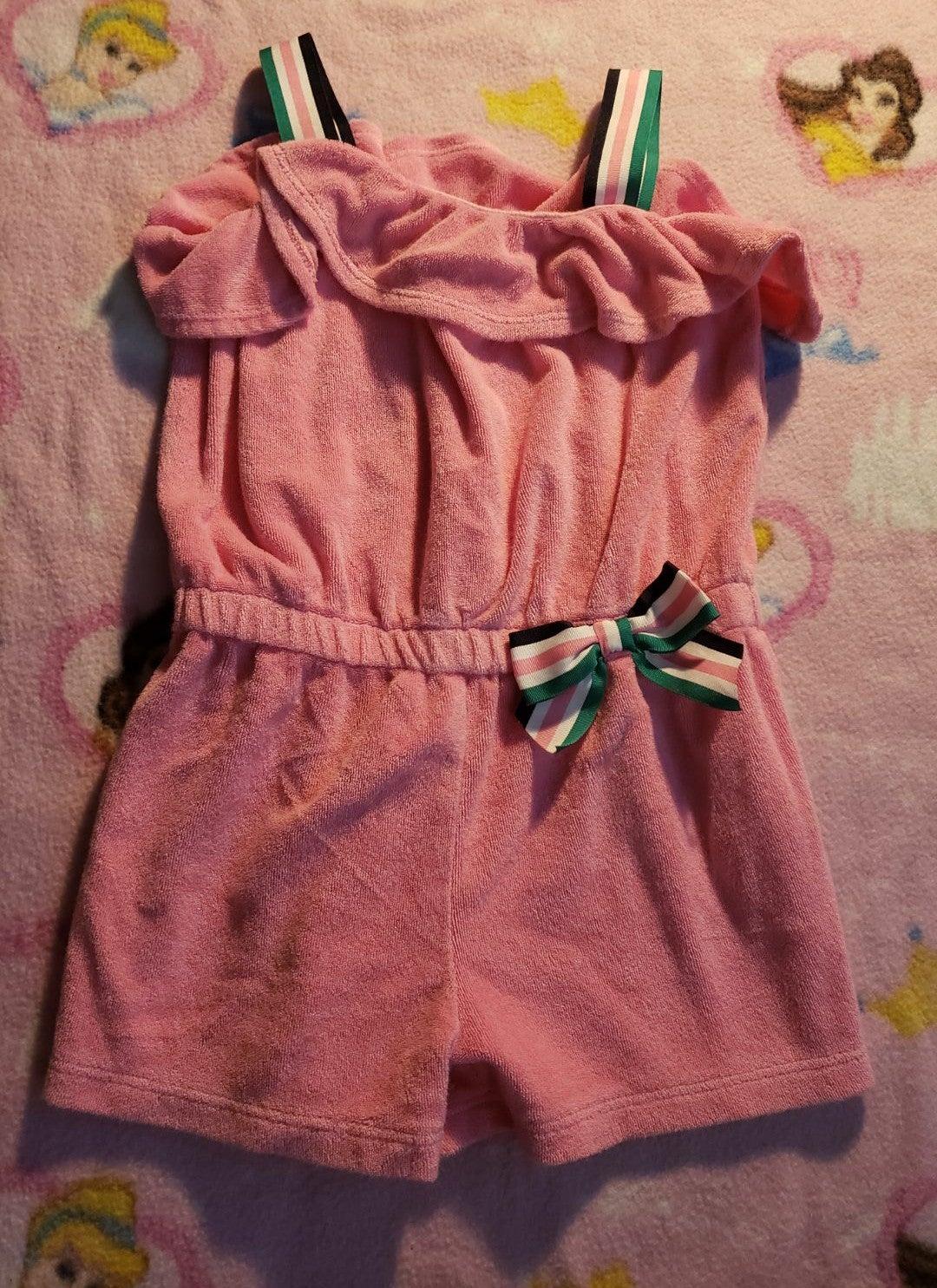 Swim suit cover up pink romper 4t