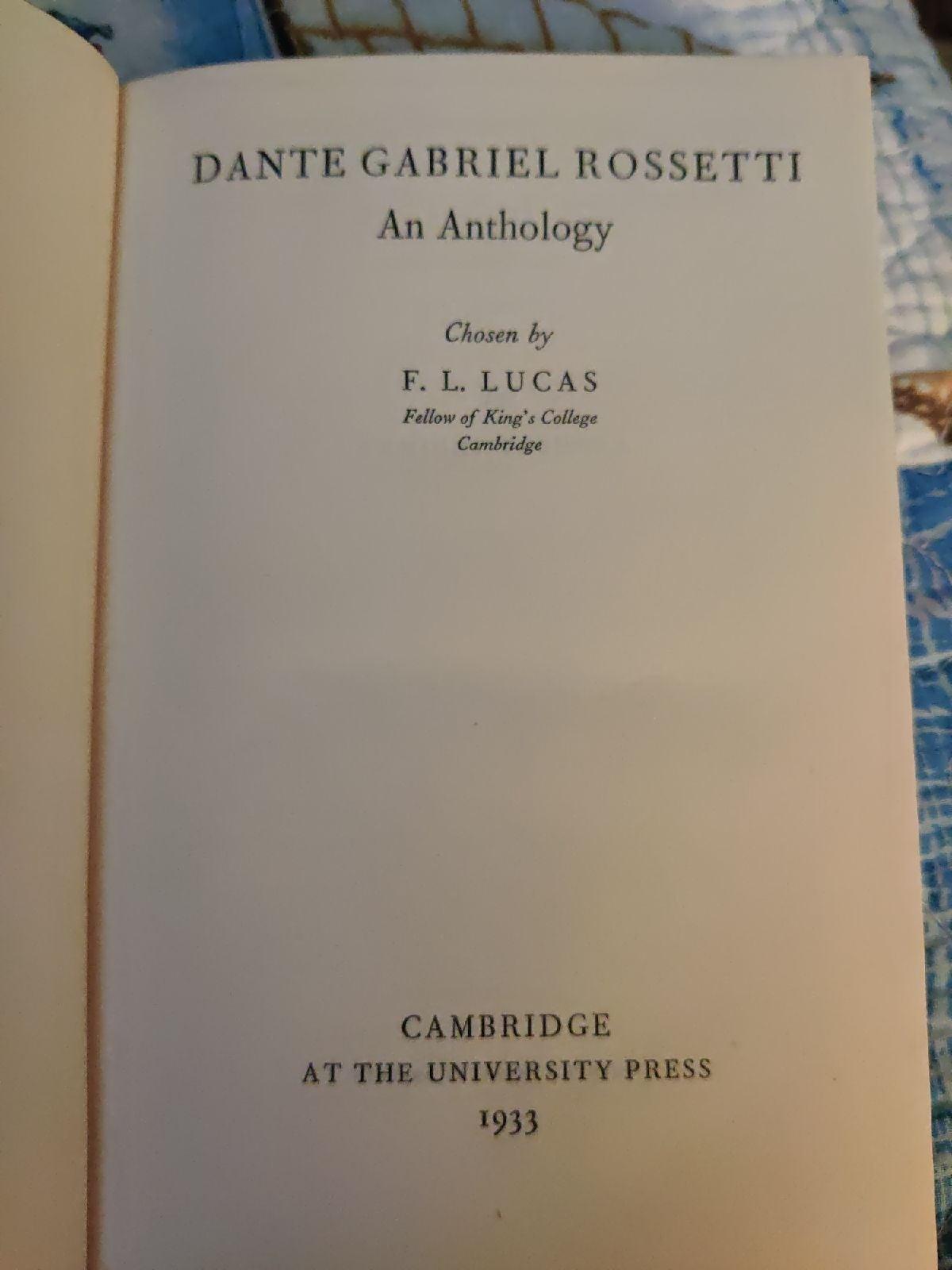 D.G. Rossetti Anthology