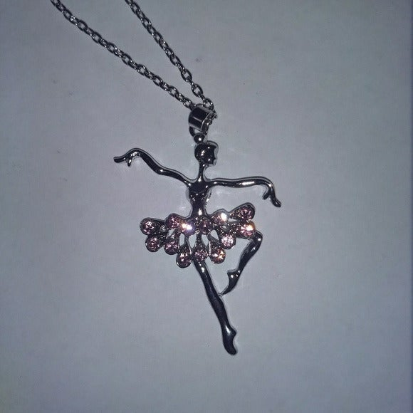 BALLET DANCER NECKLACE - Jewelry Silver