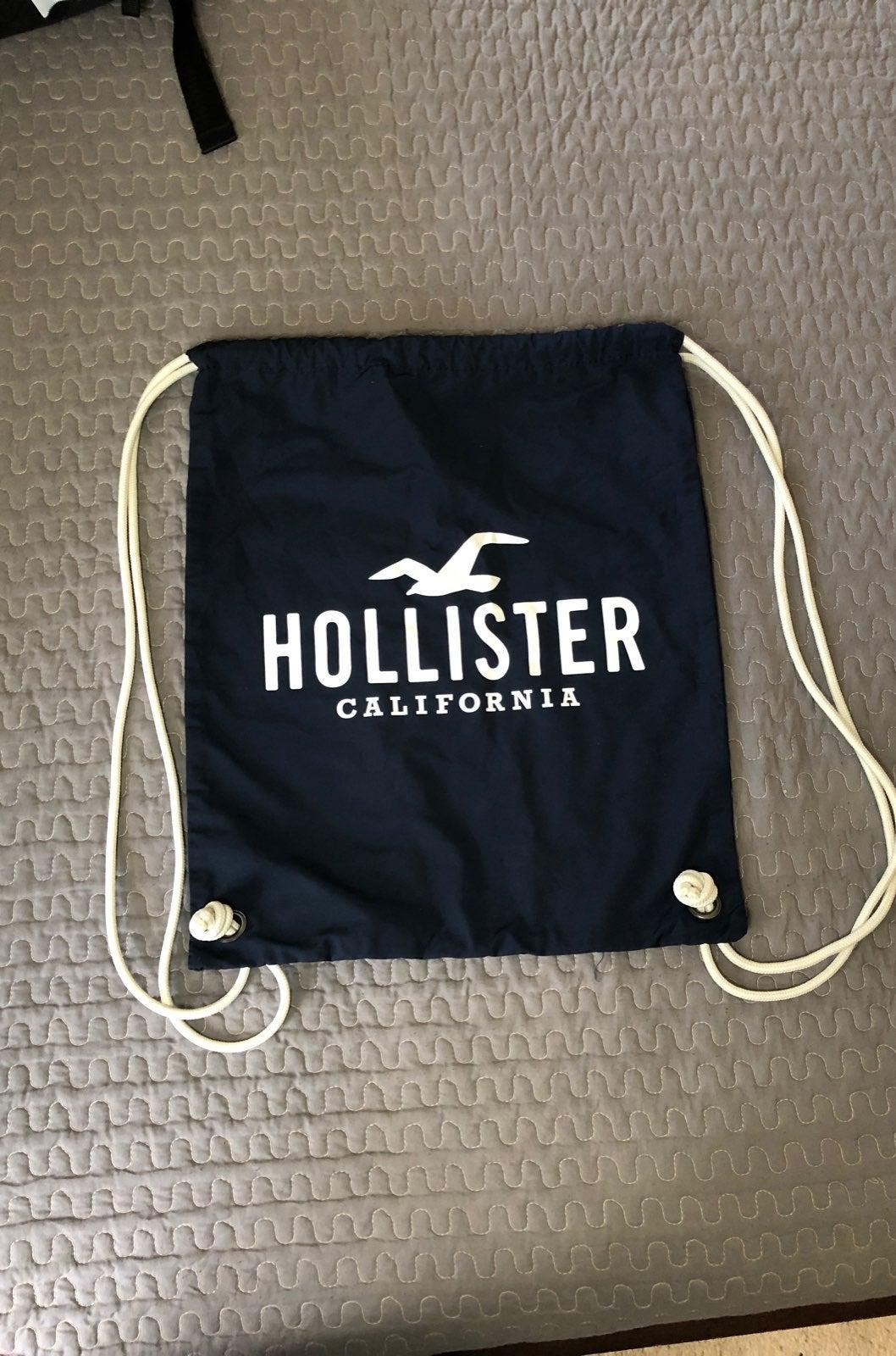 Hollister drawstring bag
