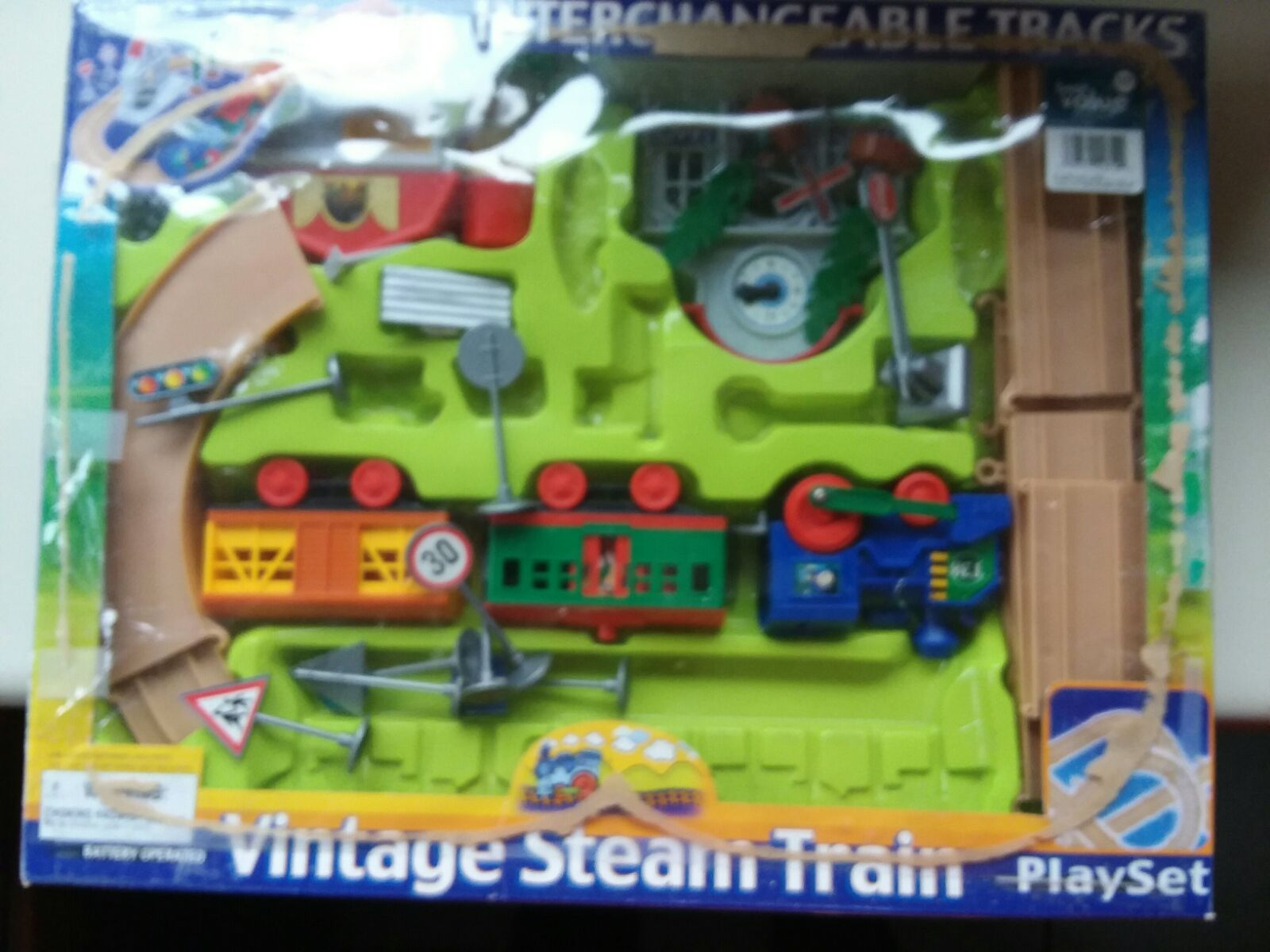 Vintage Steam Train Playset