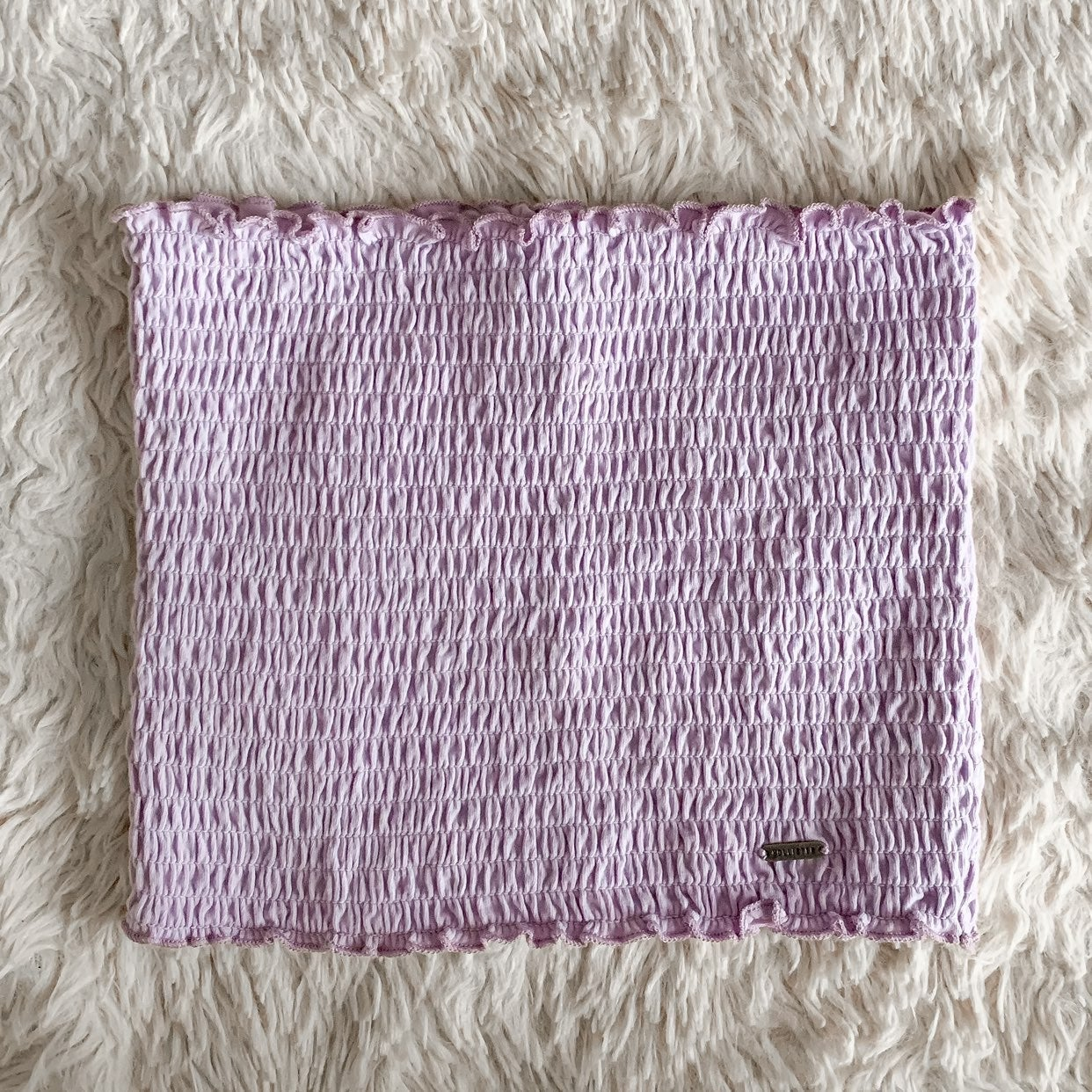 hollister lilac smocked crop tube top