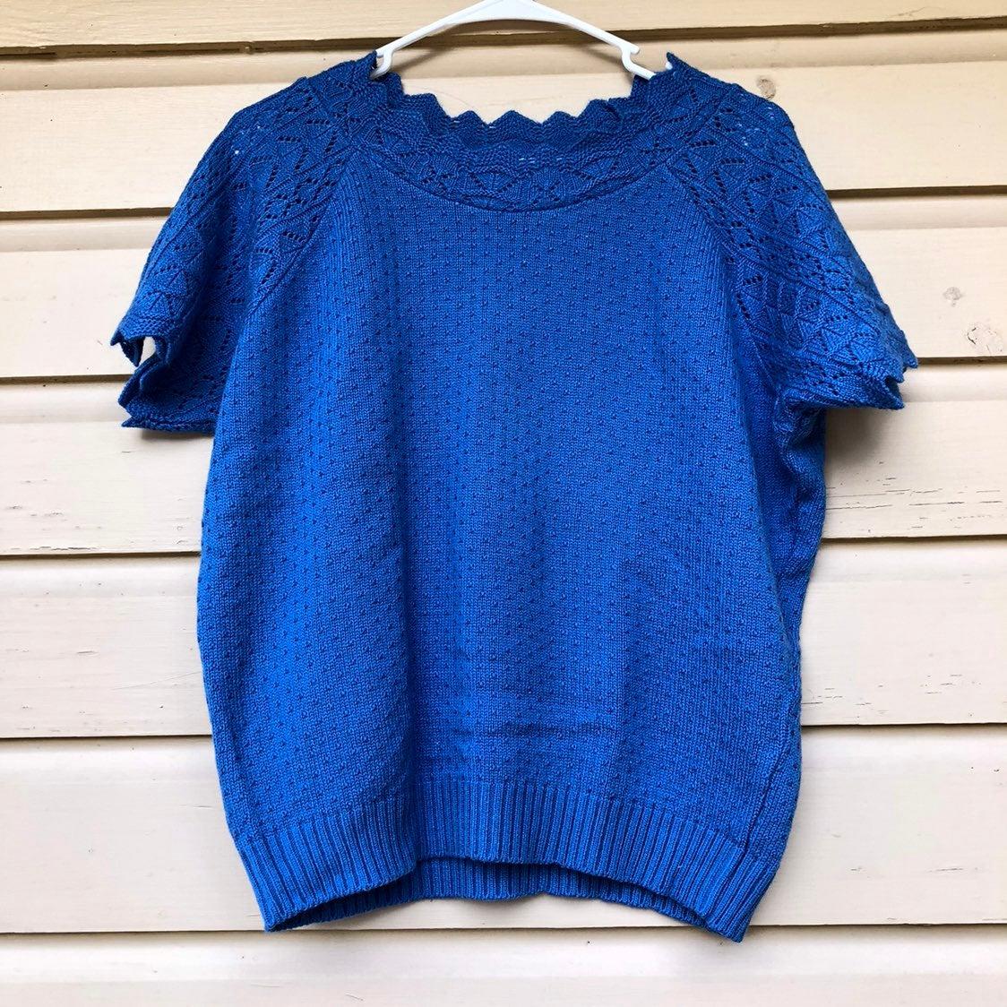 Vintage Sweater Granny Short Sleeve M