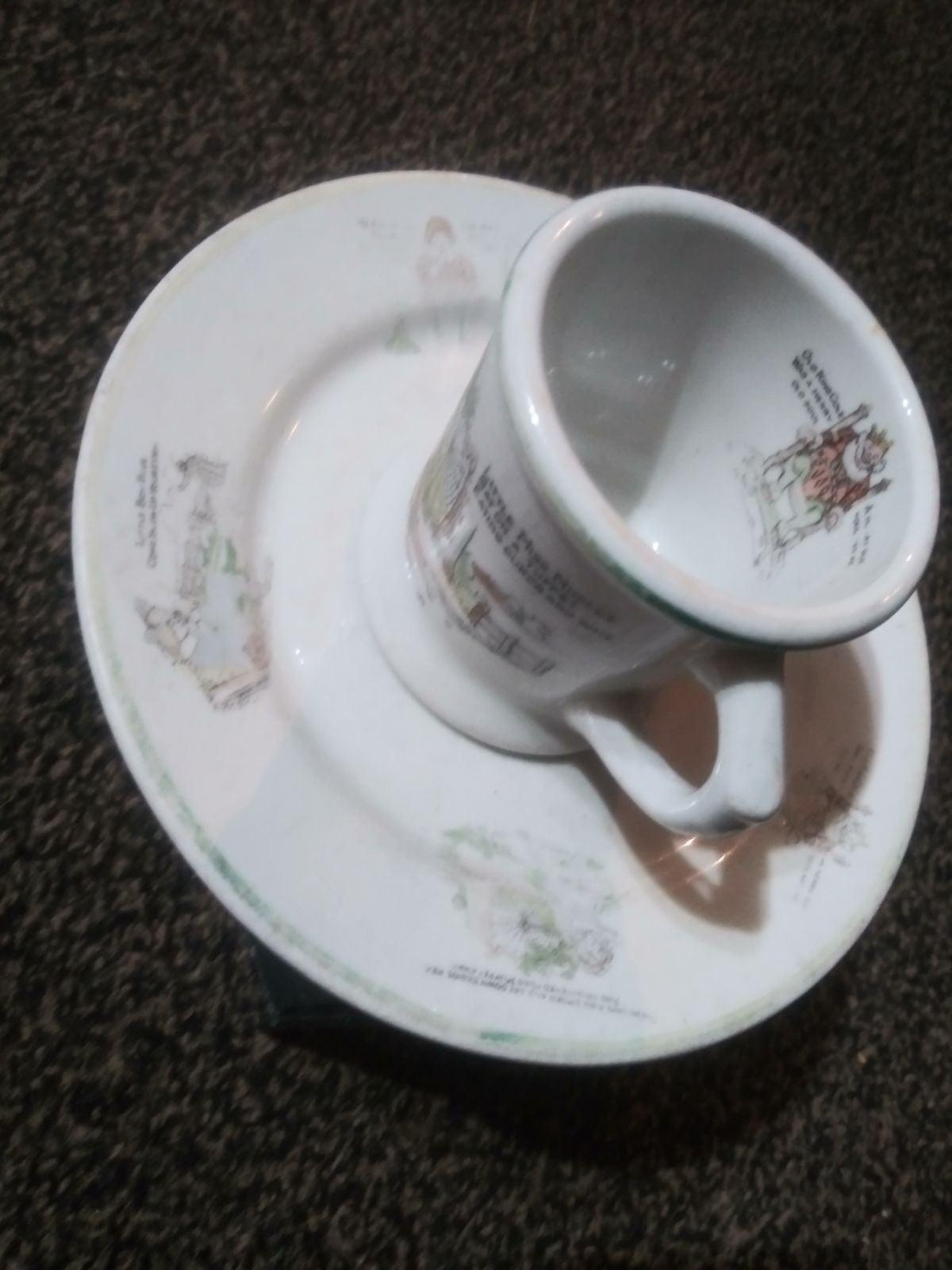 Vintage Warwick nursery ryme tea cup and