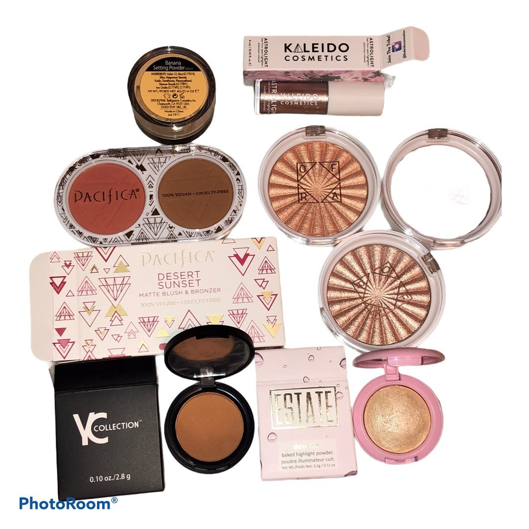Lot of 8 Bronzers Highlighters Bundle