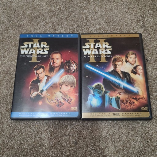 Star Wars 1 and 2 movies DVD